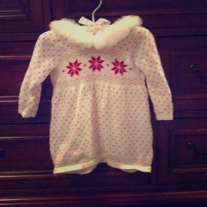 Fur collar baby dress
